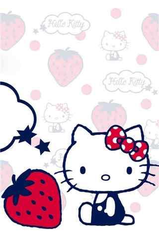 hellokitty与可爱草莓手机壁纸