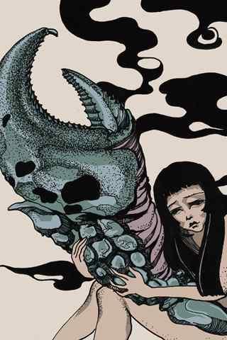 伤感个性创意巨蟹女生手机星座壁纸