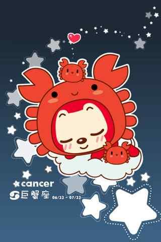 可爱阿狸巨蟹座手机星座壁纸
