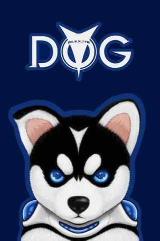 卡通哈士奇之可爱的狗狗手机壁纸