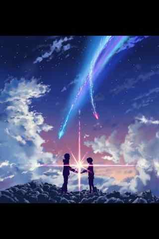 你的名字! 彗星动漫背景