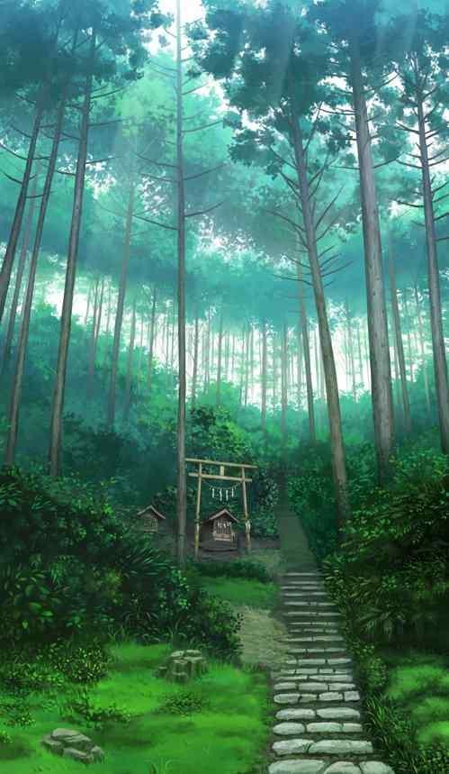 体育资讯_动漫萤火之森绿色森林背景手机壁纸 - 手机壁纸 - 桌面天下 ...