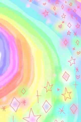 唯美小清新文艺彩虹手机壁纸