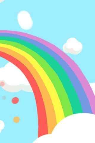 卡通可爱彩虹手机壁纸