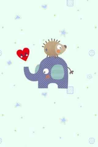 可爱的大象与小刺