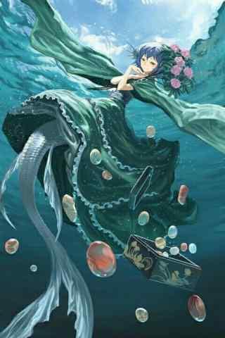 动漫美人鱼图片手机壁纸