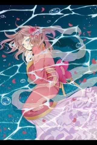 可爱美丽的动漫美人鱼图片手机壁纸