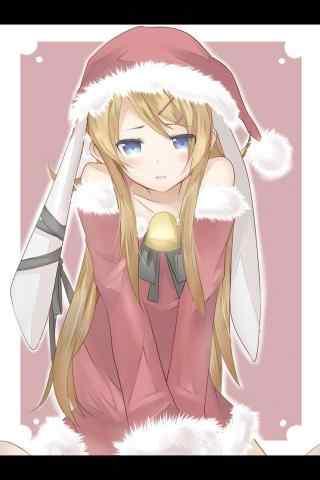 动漫美女圣诞节装诱人图片