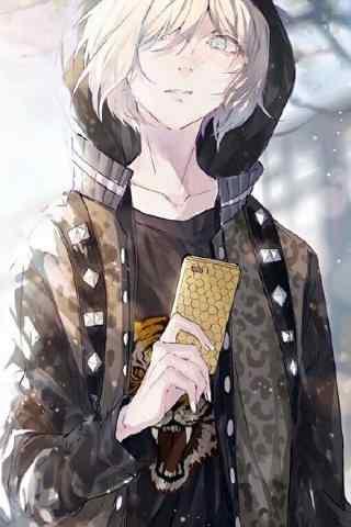 《冰上的尤里》唯美少年尤里手机壁纸