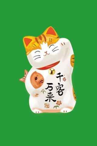 可爱的卡通招财猫