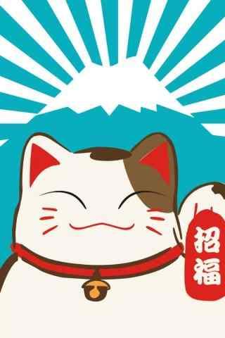 可爱卡通招财猫赵
