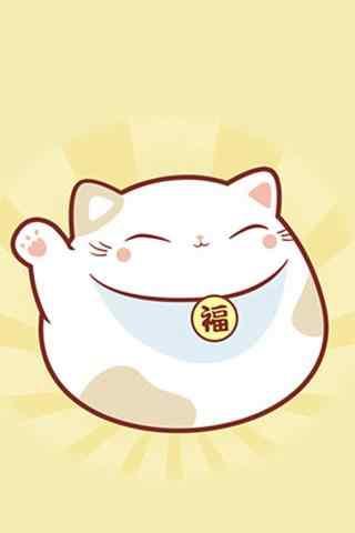 胖乎乎招财猫可爱