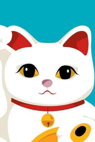 可爱的招财猫图片