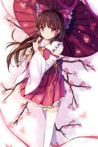 可爱的樱花少女手