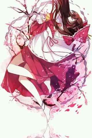 浪漫唯美樱花中的
