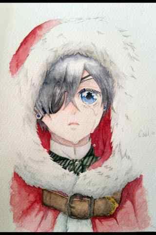 黑执事夏尔圣诞节同人图