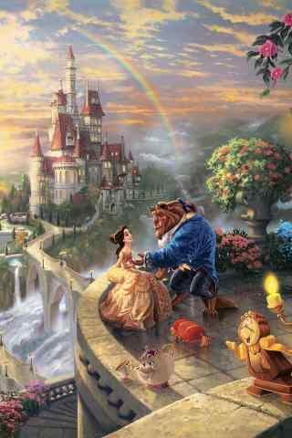 迪士尼《美女与野兽》唯美手机壁纸