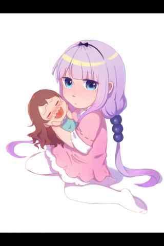 康娜抱着小林娃娃手机壁纸