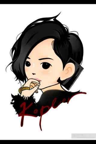 孫燕(yan)姿可愛(ai)漫畫手機桌面壁紙