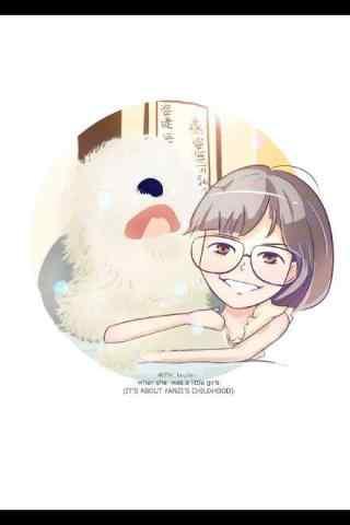 孫燕(yan)姿可愛(ai)漫畫桌面壁紙