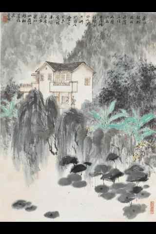 古风风景水墨画手机壁纸