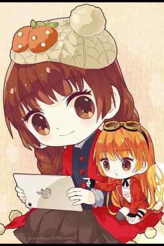 全职高手苏沐橙与沐雨橙风可爱手机壁纸