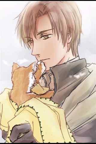 全职高手抱着猫咪的王杰希手机壁纸