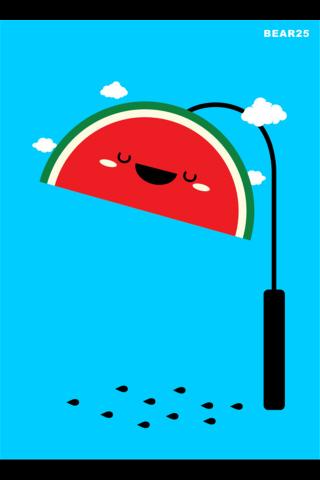 创意卡通西瓜路灯