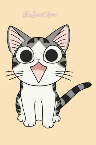 甜甜私房猫可爱呆萌的小起手机壁纸