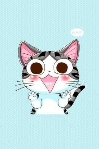 甜甜私房猫可爱高兴的小起手机壁纸