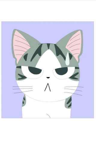 甜甜私房猫傻萌小起手机壁纸
