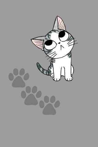 甜甜私房猫傻傻可爱的小起手机壁纸