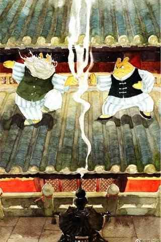 电影豆福传手绘手机海报图片
