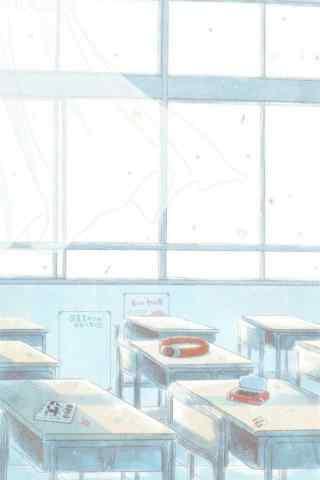 开学季之手绘唯美教室风景壁纸