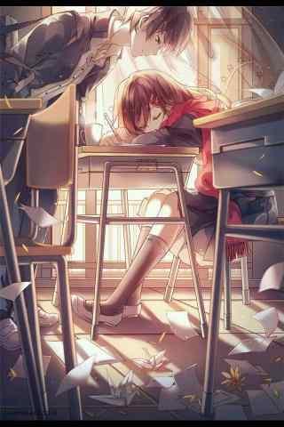 开学季之动漫唯美情侣壁纸