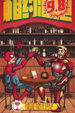 电影蜘蛛侠英雄归来卡通手机锁屏