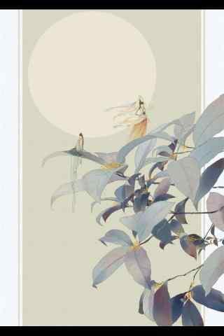 創意手繪擬人(ren)桂花(hua)手機(ji)壁紙