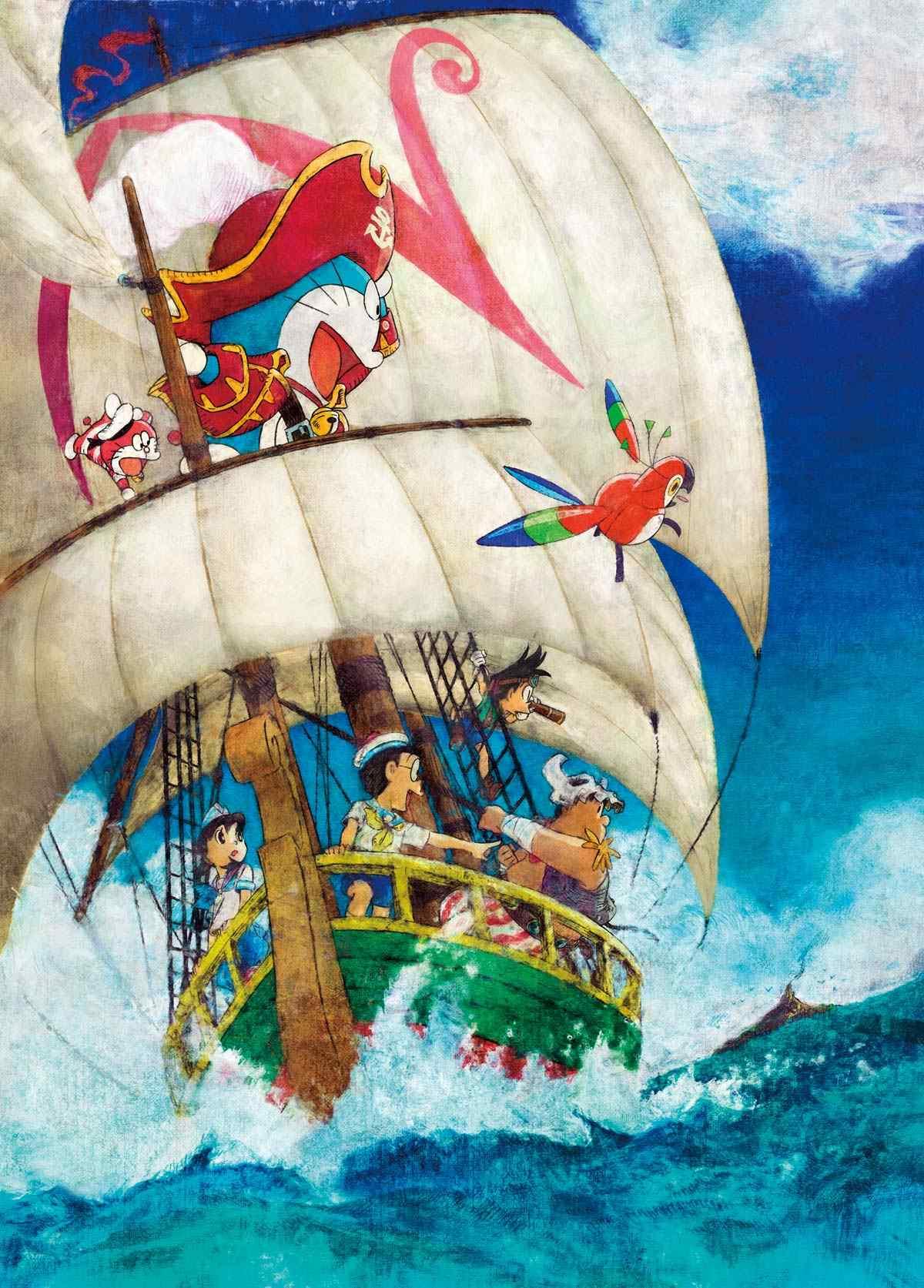 哆啦A梦:大雄的金银岛海上斗士手机壁纸