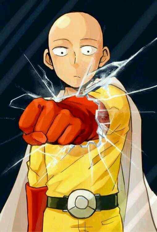 一拳超人打破屏幕搞笑埼玉手机壁纸