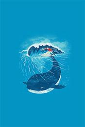 简约清新鲸鱼卡通