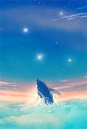 梦幻清新手绘鲸鱼