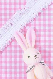 粉红色兔子少女心手机壁纸