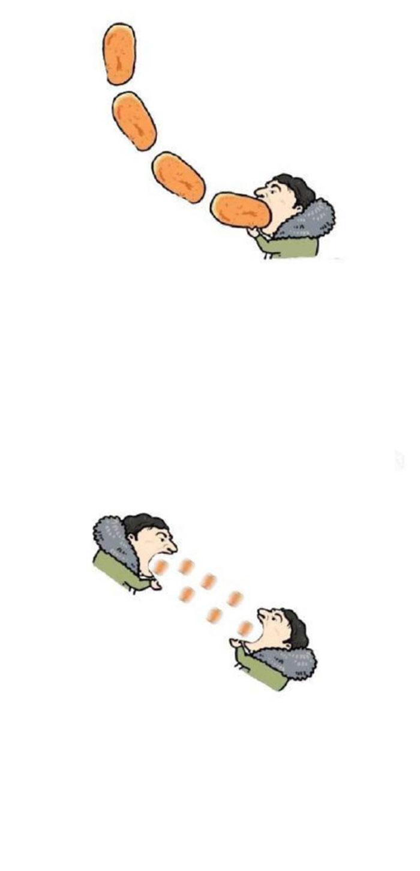 王思聪吃热狗卡通
