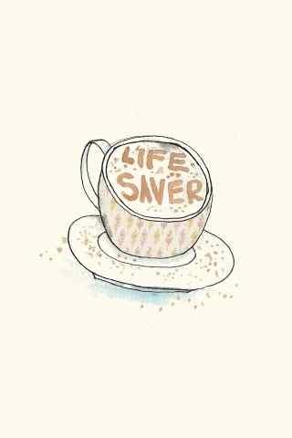 可爱简约卡通咖啡