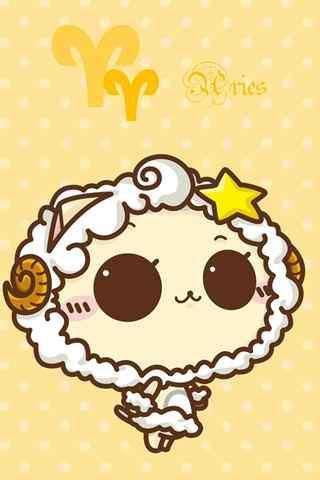 可爱小女生白羊座手机壁纸