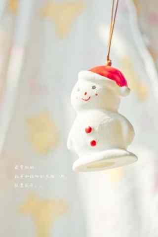 萌萌哒小雪人玩偶手机壁纸
