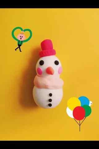 可爱创意小雪人玩偶手机壁纸