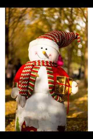 森林里的雪人玩偶