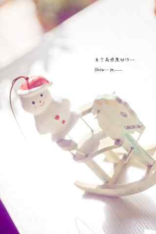 超可爱小雪人玩偶手机壁纸