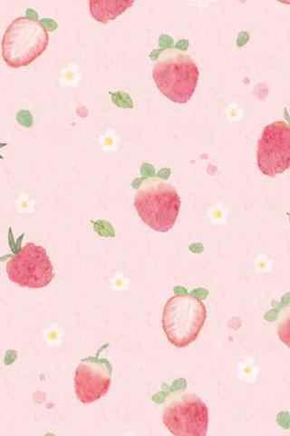 粉色草莓创意手机